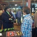Mr. Lobo talking to a Fan